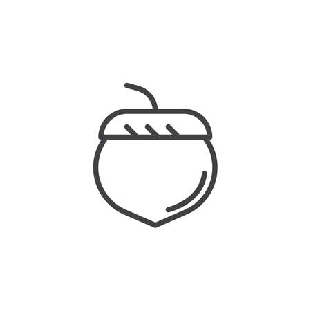 Acorn outline icon. linear style sign for mobile concept and web design. oak tree acorn simple line vector icon. Symbol, logo illustration. Pixel perfect vector graphics Logo