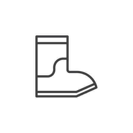 Rain boots outline icon. linear style sign for mobile concept and web design. simple line vector icon. Symbol, logo illustration. Pixel perfect vector graphics