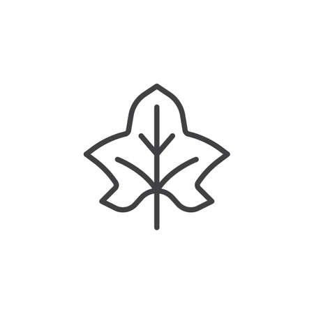 Maple leaf outline icon. linear style sign for mobile concept and web design. Autumn deciduous simple line vector icon. Symbol, logo illustration. Pixel perfect vector graphics