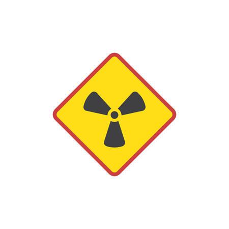 Radioactivity sign flat icon
