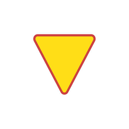 Yield Triangle Sign flat icon