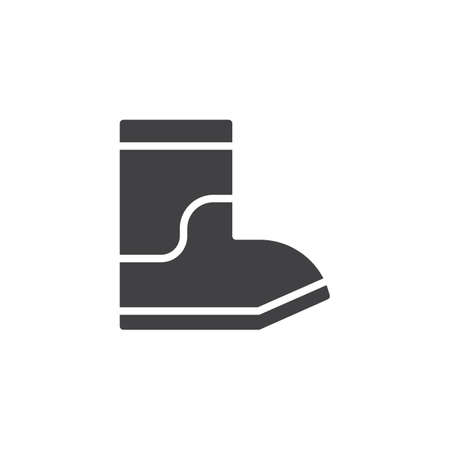 Rain boots vector icon. filled flat sign for mobile concept and web design. simple solid icon. Symbol, logo illustration. Pixel perfect vector graphics Illustration