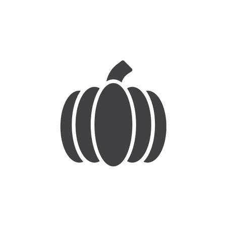 Ripe pumpkin vector icon. filled flat sign for mobile concept and web design. Vegetable simple solid icon. Symbol, logo illustration. Pixel perfect vector graphics