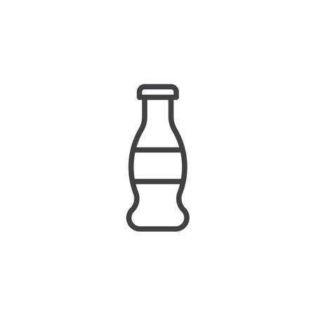 Soda water bottle outline icon. linear style sign for mobile concept and web design. Glass bottle simple line vector icon. Symbol, logo illustration. Pixel perfect vector graphics