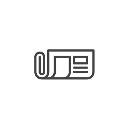 Icône de contour de journal. signe de style linéaire pour le concept mobile et la conception web. Icône de vecteur ligne simple journal roulé. Symbole, illustration du logo. Graphiques vectoriels parfaits pixel Logo