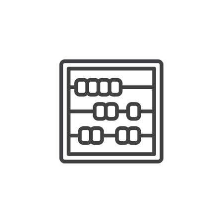 Icône de contour Abacus. signe de style linéaire pour le concept mobile et la conception web. Comptage de l'icône de vecteur ligne simple finance. Symbole, illustration du logo. Graphiques vectoriels parfaits pixel