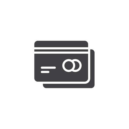 Credit card vector icon. filled flat sign for mobile concept and web design. Payment card simple solid icon. Bank cards symbol, illustration. Pixel perfect vector graphics
