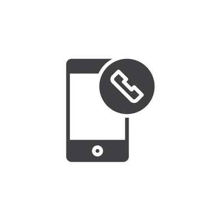 Phone call vector icon. filled flat sign for mobile concept and web design. Smartphone and handset telephone simple solid icon. Symbol,  illustration. Pixel perfect vector graphics