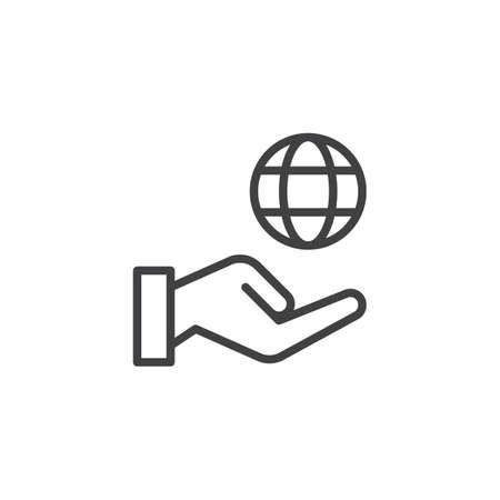 Environmental protection outline icon. Stock Illustratie