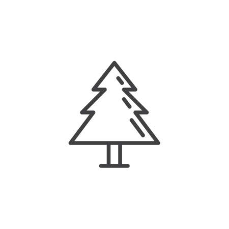 Fir tree outline icon.