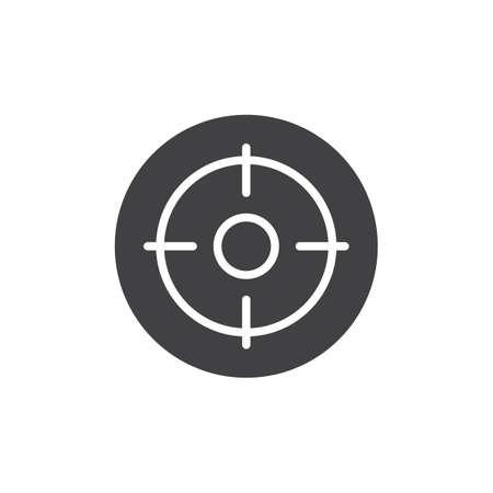 Target board vector icon.