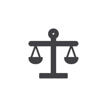 Balance vector icon. filled flat sign for mobile concept and web design. Scales simple solid icon. Libra symbol, logo illustration. Pixel perfect vector graphics