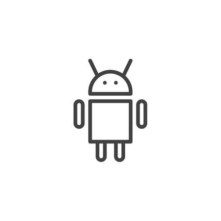 Bot outline icon. linear style sign for mobile concept and web design. Robot simple line vector icon. Ilustração