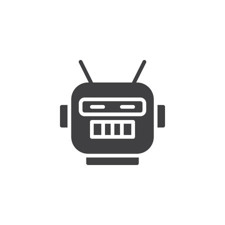 Robot mask vector icon. Ilustração