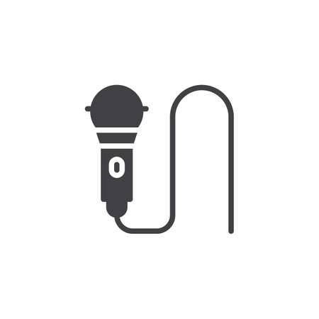 Microphone vector icon. Illustration