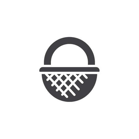 Wicker basket vector icon. filled flat sign for mobile concept and web design. Straw basket simple solid icon. Symbol, logo illustration. Pixel perfect vector graphics