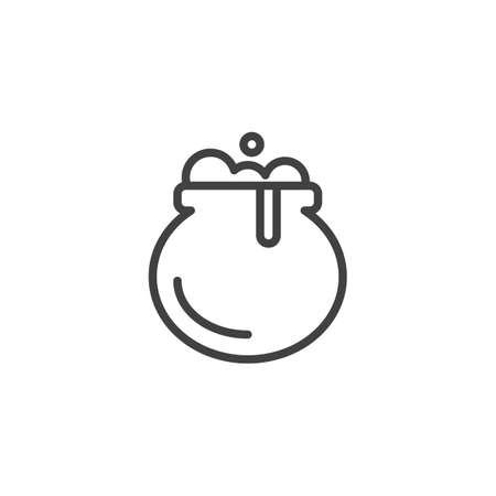 Witches cauldron outline icon.