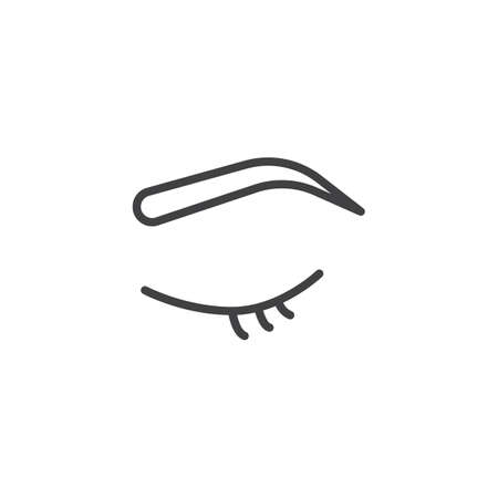 Eyebrows make-up outline icon. linear style sign for mobile concept and web design. mascara simple line vector icon. Symbol, logo illustration. Pixel perfect vector graphics