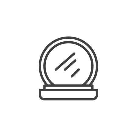 Makeup Powder outline icon. linear style sign for mobile concept and web design. Face Cosmetic simple line vector icon. Symbol, logo illustration. Pixel perfect vector graphics