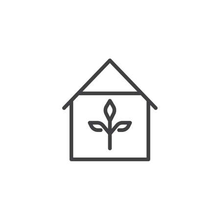 Greenhouse outline icon. linear style sign for mobile concept and web design. Garden house simple line vector icon. Symbol, logo illustration. Pixel perfect vector graphics