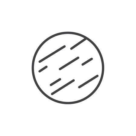 Jupiter outline icon. linear style sign for mobile concept and web design. Space planet simple line vector icon. Symbol, logo illustration. Pixel perfect vector graphics Vettoriali
