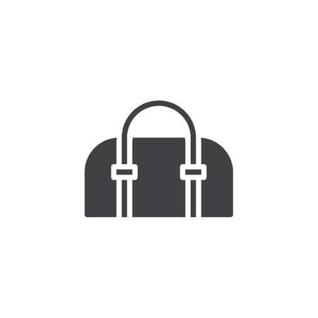Icono de vector de bolso de mujer. signo plano lleno para concepto móvil y diseño web. Bolso simple icono sólido. Símbolo, ilustración de logotipo. Gráficos vectoriales perfectos para píxeles