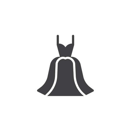 Dress vector icon. filled flat sign for mobile concept and web design. Evening gown simple solid icon. Symbol, logo illustration. Pixel perfect vector graphics