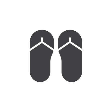 Flip flops vector icon. filled flat sign for mobile concept and web design. slippers simple solid icon. Symbol, logo illustration. Pixel perfect vector graphics