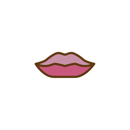 Make up Lips filled outline icon, line vector sign, linear colorful pictogram isolated on white. Womans lip symbol, logo illustration. Pixel perfect vector graphics Ilustracja
