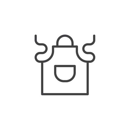 Kitchen apron outline icon. linear style sign for mobile concept and web design. Apron with pocket simple line vector icon. Symbol, logo illustration. Pixel perfect vector graphics