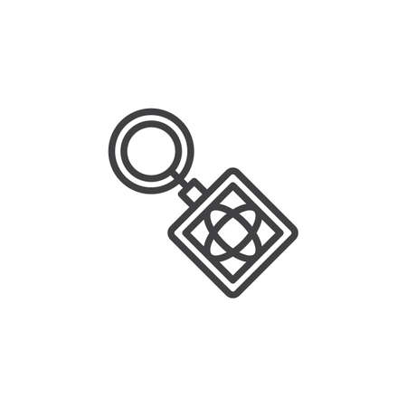 Key ring outline icon. linear style sign for mobile concept and web design. Keyring simple line vector icon. Keychain symbol, illustration. Pixel perfect vector graphics Banco de Imagens - 108245659