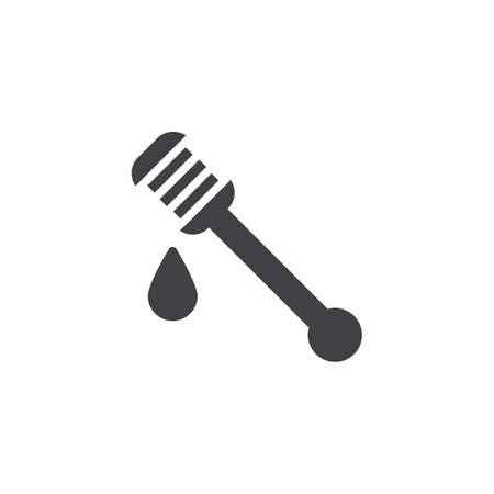 Honey ladle vector icon. filled flat sign for mobile concept and web design. Mead solid icon. Symbol, logo illustration. Pixel perfect vector graphics