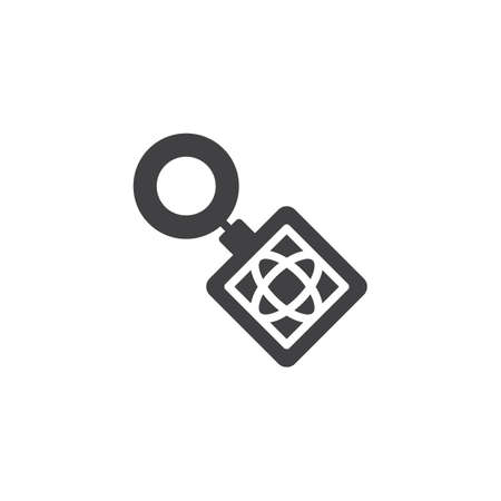 Key ring vector icon. filled flat sign for mobile concept and web design. Keyring simple solid icon. Keychain symbol, logo illustration. Pixel perfect vector graphics Ilustração