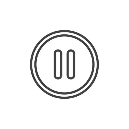 Pause button outline icon. linear style sign for mobile concept and web design. Media player control button simple line vector icon. Symbol, logo illustration. Pixel perfect vector graphics