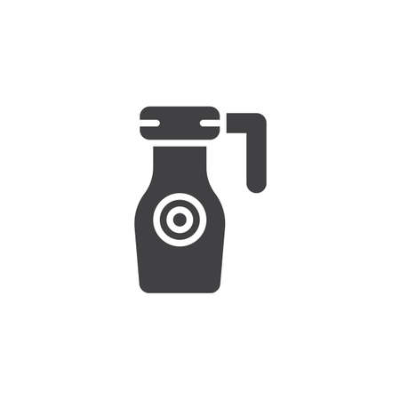 Thermos vector icon. filled flat sign for mobile concept and web design. Drink container simple solid icon. Symbol, logo illustration. Pixel perfect vector graphics