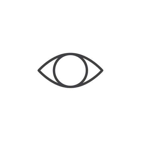 Cataract eye outline icon. linear style sign for mobile concept and web design. Blind eye simple line vector icon. Optometrist symbol, logo illustration. Pixel perfect vector graphics Ilustracja