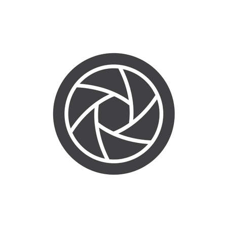 Lens shutter vector icon. filled flat sign for mobile concept and web design. Camera shutter simple solid icon. Diaphragm symbol, logo illustration. Pixel perfect vector graphics