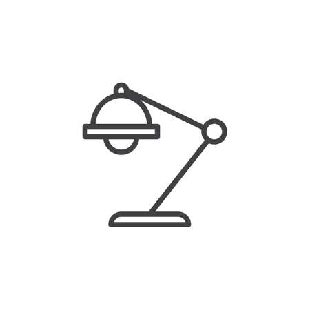 Table lamp outline icon. linear style sign for mobile concept and web design. Desk lamp simple line vector icon. Symbol, logo illustration. Pixel perfect vector graphics