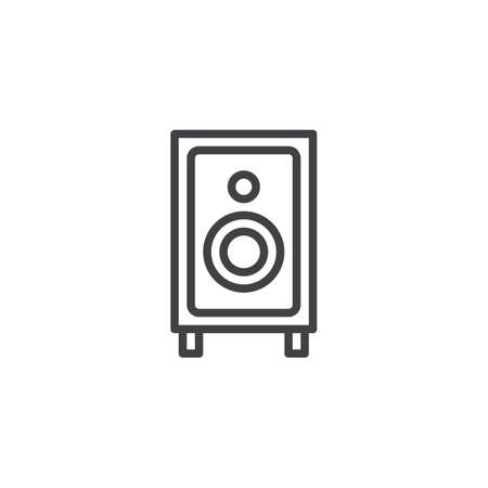 Sound speaker outline icon. linear style sign for mobile concept and web design. Audio speaker system simple line vector icon. Symbol, logo illustration. Pixel perfect vector graphics