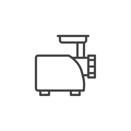 Meat grinder outline icon. linear style sign for mobile concept and web design. Electric mincer simple line vector icon. Symbol, logo illustration. Pixel perfect vector graphics