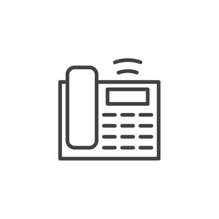 Office phone call outline icon. linear style sign for mobile concept and web design. Ringing telephone simple line vector icon. Symbol, logo illustration. Pixel perfect vector graphics