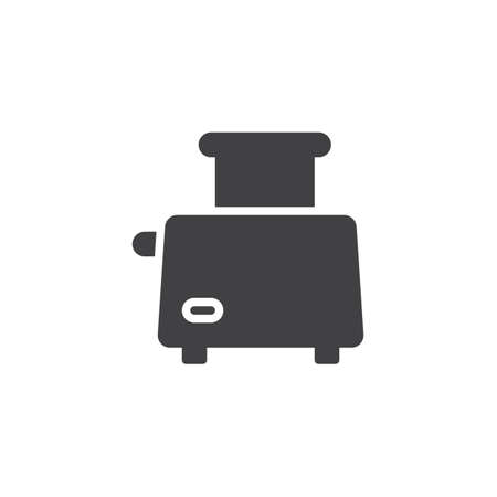 Toaster vector icon. filled flat sign for mobile concept and web design. toaster, toast, breakfast simple solid icon. Symbol illustration. Pixel perfect vector graphics