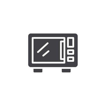 Microwave oven vector icon. filled flat sign for mobile concept and web design. Electric microwave simple solid icon. Symbol illustration. Pixel perfect vector graphics 向量圖像