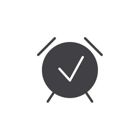 Alarm clock timer vector icon. filled flat sign for mobile concept and web design. Wake up time simple solid icon. Symbol, logo illustration. Pixel perfect vector graphics