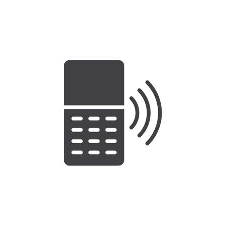 Ringing Cell Phone vector icon. filled flat sign for mobile concept and web design. Phone call simple solid icon. Symbol, logo illustration. Pixel perfect vector graphics