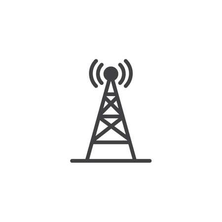 Radio antenna wireless vector icon. filled flat sign for mobile concept and web design. Network signal antenna simple solid icon. Symbol, logo illustration. Pixel perfect vector graphics Ilustração