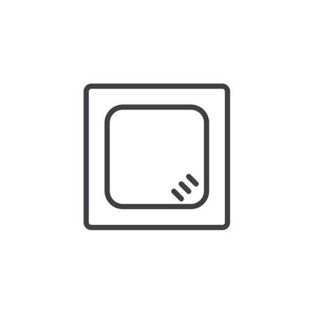 Square Table top view outline icon. linear style sign for mobile concept and web design. House interior furniture simple line vector icon. Symbol, logo illustration. Pixel perfect vector graphics