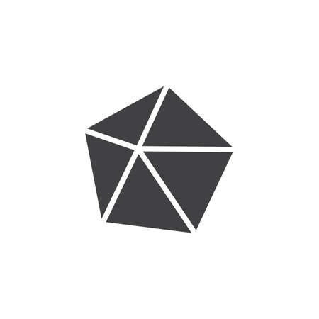 Dodecahedron geometrical figure vector icon. filled flat sign for mobile concept and web design. Dodecahedron geometric shape simple solid icon. Symbol logo illustration. Pixel perfect vector graphics