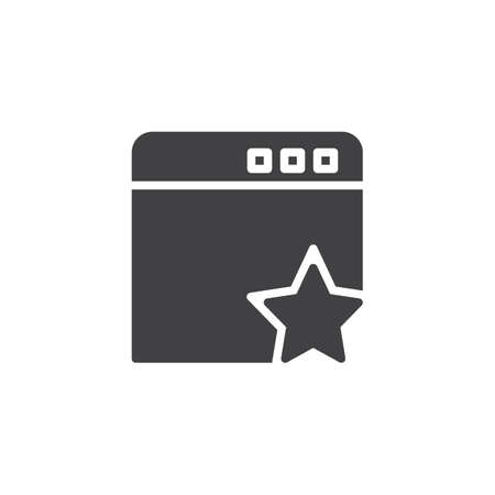 Add to favorite bookmark vector icon. filled flat sign for mobile concept and web design. Website and star simple solid icon. Symbol, logo illustration. Pixel perfect vector graphics