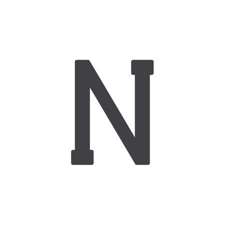 Nu letter vector icon. filled flat sign for mobile concept and web design. Greek alphabet symbols simple solid icon. Symbol, logo illustration. Pixel perfect vector graphics